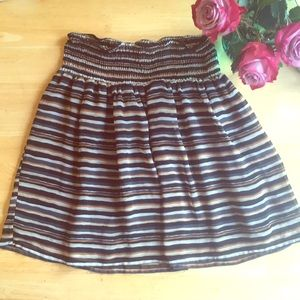 Old Navy striped mini skirt